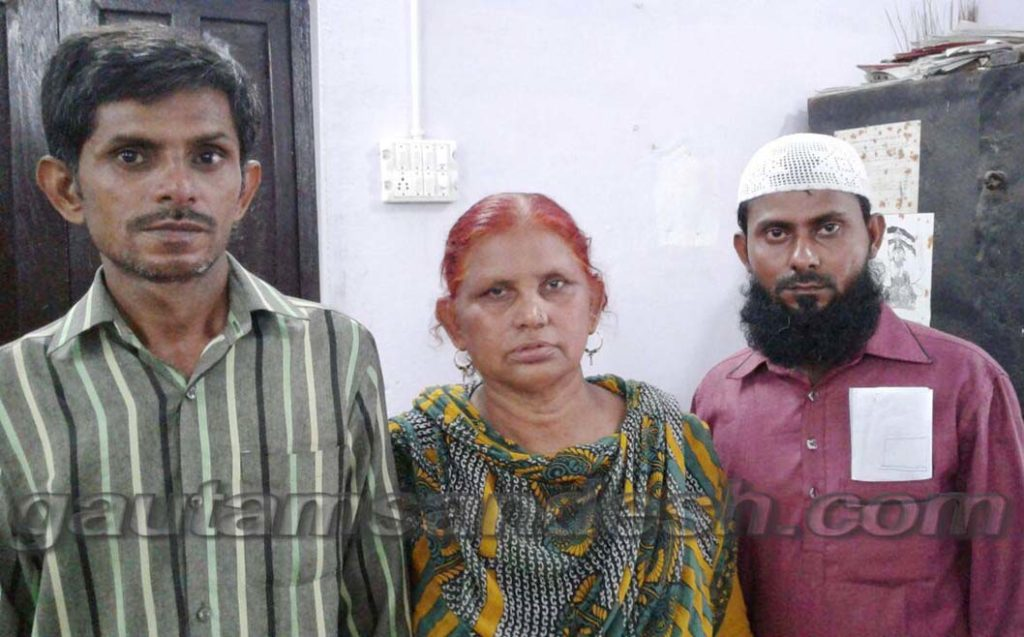 पीड़ित मुस्लिम परिवार।